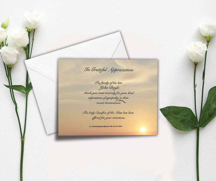 Memorial Appreciation Card