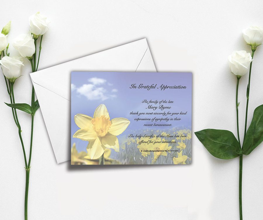 Memorial Appreciation Card
