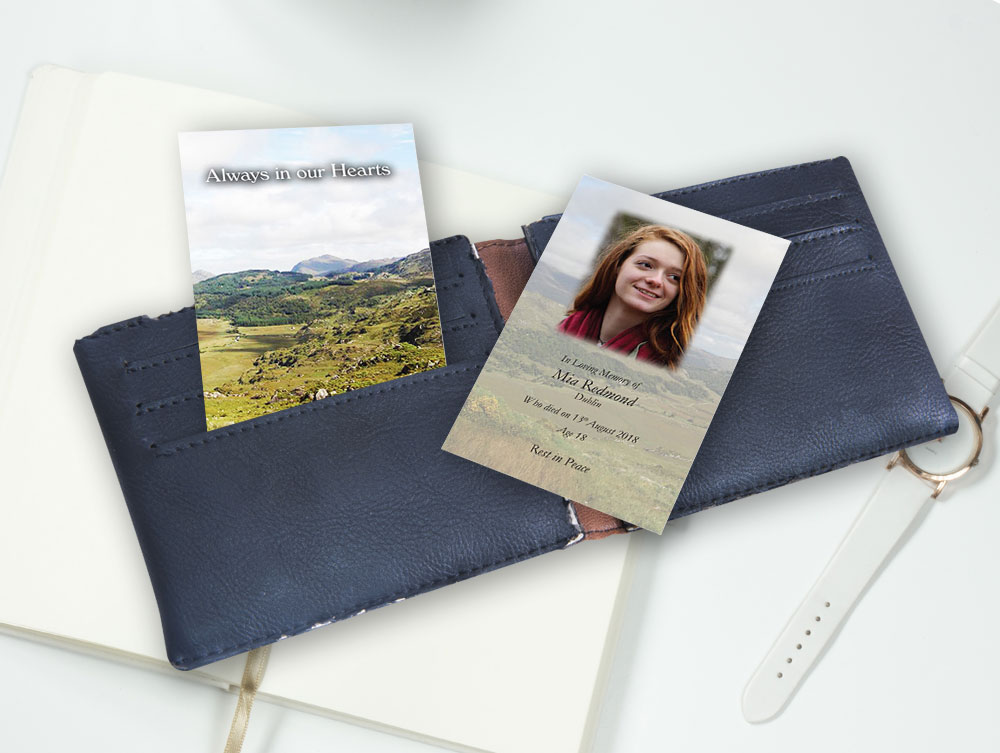 wallet card  055  creative memorial cards use our order form