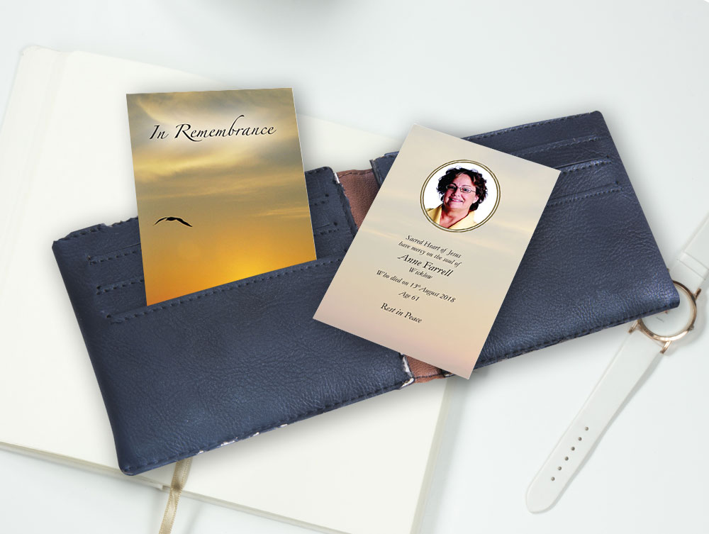 wallet card  058  creative memorial cards use our order form